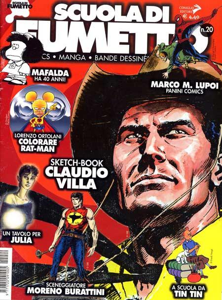 Lorenzo Ortolani spiega sul n. 20 della splendida rivista Scuola di Fumetto, come ha realizzato la colorazione della copertina di Tutto Rat-Man 6, ... - SdF020