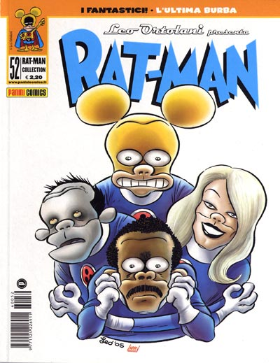 La copertina di Rat-Man Collection 52