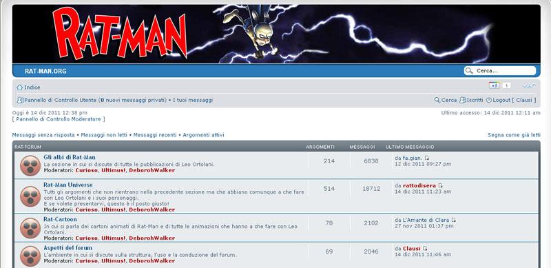 C'era una volta il forum di Rat-Man…