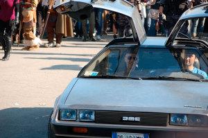 La DeLorean con Leo Ortolani