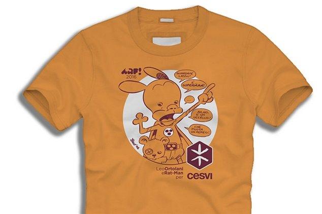 Il Cesvi presenta una T-Shirt di Ortolani all'Arf