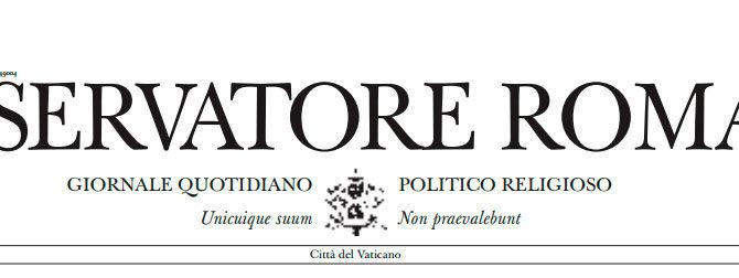 Ortolani su l'Osservatore Romano