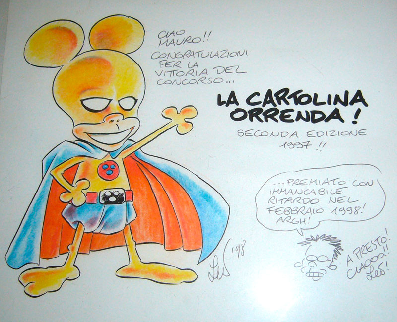 Premi la cartolina orrenda official rat man home page